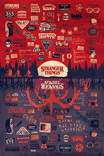 Stranger Things Poster - Matte Poster Frameless Gift 11 x 17 inch(28cm x 43cm)*IT-00020