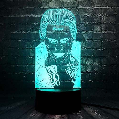 Marvel gerechtelijke League afbeelding 3D RGB Licht Batman Led 7 kleuren USB nachtlampje tafeldecoratie illusie tafel hoogglans verjaardagscadeau