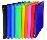 Exacompta 511999E opaco PP flessibile Covers raccoglitore ad anelli A4–multicolore (confezione da 10)