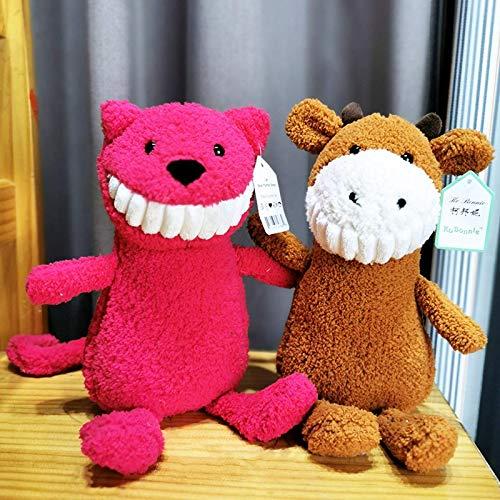 Juyulin Ugly Smile Dientes grandes Dientes enjuague los juguetes Muñeca de peluche Feo Creativo 呲 Dog Muñeca infantil Muñeca de peluche juguetes
