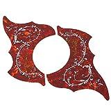 2 Stück Selbstklebendes Schlagbrett, Gitarre Scratchplate Ersatzteile für 41 Zoll Folk Gitarre(rot)