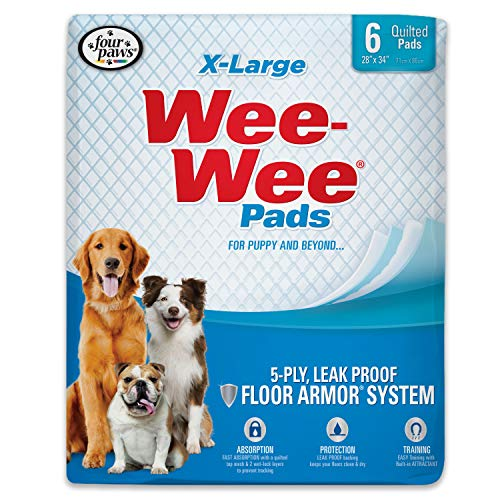 Wee-Wee Puppy Training Pee Pads 6-Count 28
