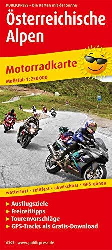Österreichische Alpen: Motorradkarte mit Ausflugszielen, Einkehr- & Freizeittipps und Tourenvorschlägen, wetterfest, reissfest, abwischbar, GPS-genau. 1:250000 (Motorradkarte: MK)