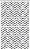 ABAKUHAUS Modern Schmaler Duschvorhang, Zickzack-Chevron-Wellen, Badezimmer Deko Set aus Stoff mit Haken, 120 x 180 cm, Weiß Grau