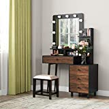 Tribesigns Vanity Table with Lighted Mirror,...