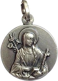 """Medaglietta""""Santa Caterina da Siena"""" in Argento 925 millesimi - 925 Sterling Silver"""" Saint Chaterine"""" Medal"""