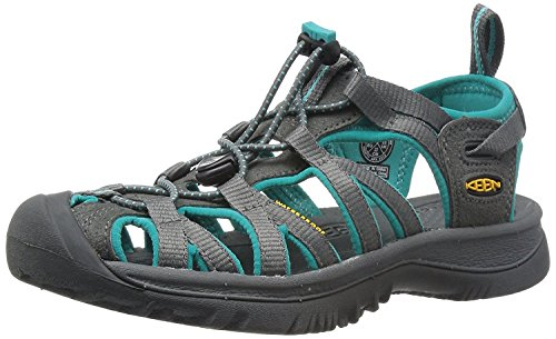 Keen Damen Whisper Sport-& Outdoor Sandalen, Dark Shadow/Ceramic, 40 EU
