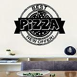 Tianpengyuanshuai Exquisita Pizza Etiqueta de la Pared Etiqueta de la Pared Creativa Personalizada para niños 45X54cm