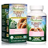 Host Defense, Turkey Tail Capsules, Natural Immune System and Digestive Support, Daily Mushroom Mycelium...