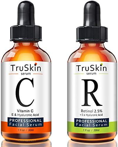 TruSkin Day and Night Serum for Face 2 pack Vitamin C Serum and Retinol Serum product image