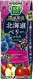 カゴメ 野菜生活100季節限定 濃厚果実北海道ベリーミックス195ml ×24本