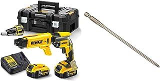 DEWALT DCF620P2K-GB XR Brushless 2 Kg SDS-Plus Hammer (2 x 5 Ah), 18 V, Yellow/Black & DT7206-QZ DT7206-QZ-5 Puntas 153mm ...
