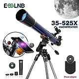 ESSLNB Teleskop Astronomie 70/700 Fernrohr Teleskop für Kinder Einsteiger mit Smartphone Adapter...