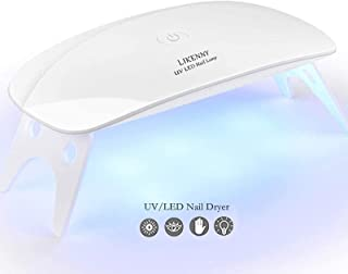 UVライト LEDネイルドライヤー ジェルネイルLEDライト 硬化ライト タイマー設定可能 折りたたみ式手足とも使える UV と LEDダブルライト ジェルネイル用 ホワイト 日本語説明書付き