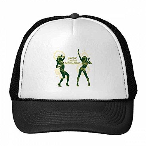 DIYthinker Hula Silhouette brasilianischen Karneval Slogan Brasilien kulturelle Elemente Trucker-Mütze Baseballkappe Nylon-Mesh-Kühler Hut justierbare Kappe Kinder Grün