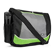 Back to School Bags Messenger Bag Lightweight for College High School Elementary School Black Green