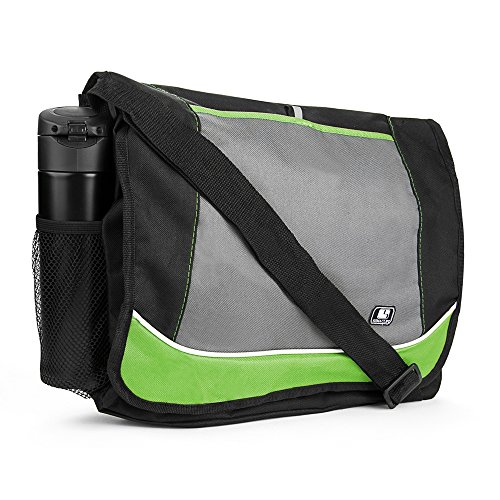 Back to School Bags Messenger Bag Lightweight for College High School Elementary School Black Green