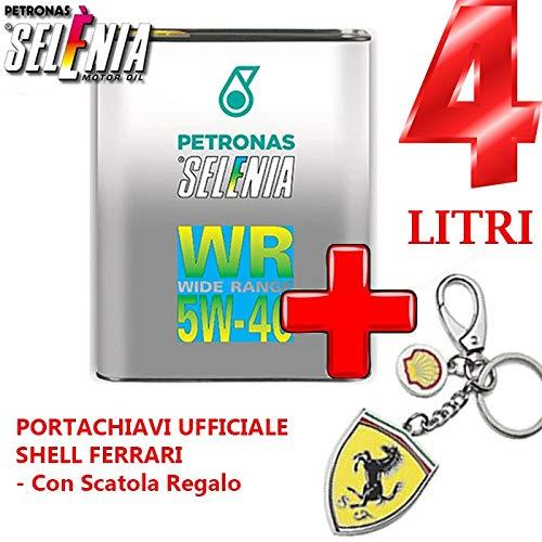 Selenia Petronas WR Wide Range Diesel Graduación 5W-40 + Llavero oficial Shell Ferrari - Con caja de regalo