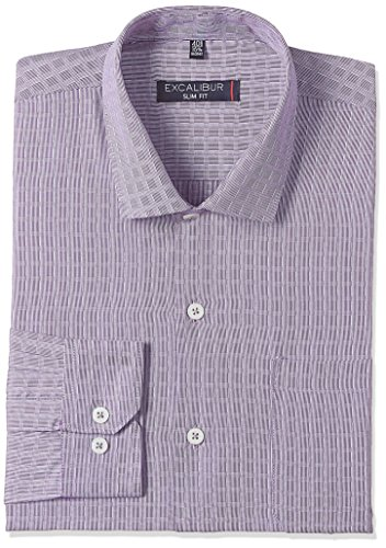 Excalibur Men's Formal Shirt (8907542609581_400016540437_44_Navy)