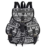 VBG VBIGER Canvas Backpack for Women Girls Cloth Backpack Purse Casual Daypack Travel Daypack School Bag Bohemian Backpack boho Backpack Elephant Black