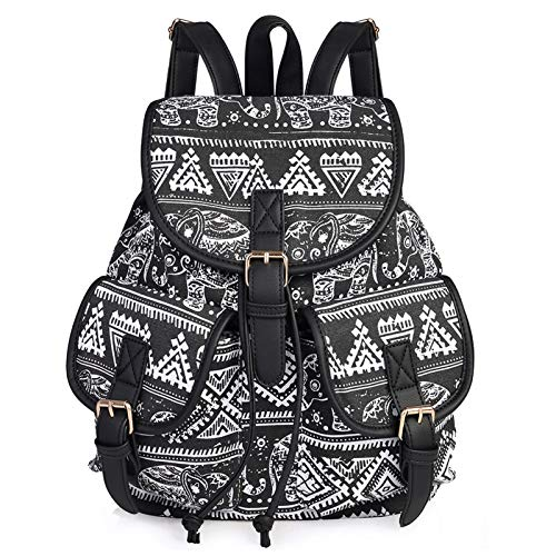 VBG VBIGER Canvas Backpack for Women Girls Cloth Backpack Purse Casual Daypack Travel Daypack School...