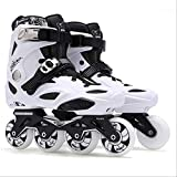 STBB Patins à roulettes Adultes Inline Skates Freestyle Slalom Roller Roller Boots Rocked Wheels Patines Skate pour Femmes Hommes 42 Blanc