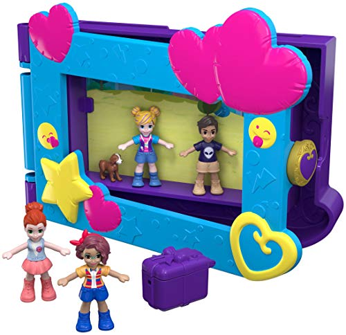 Polly Pocket Polly Mattel FRY96 photo frame, dolls with accessories