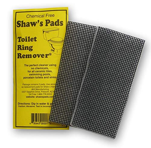 Shaw's Pads Toilet Ring Remover - Environmentally Friendly Cleaner Pads