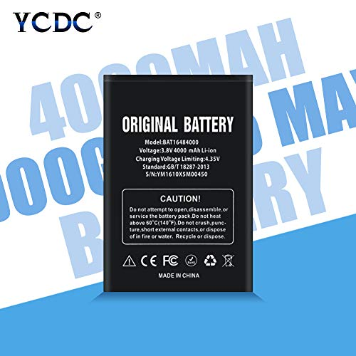 YCDC 2Pcs 4000mAh High Capacity BAT16484000 Li-ion Battery for DOOGEE X5 Max X5 Max Pro,Genuine Battery BAT16484000 for DOOGEE X5 MAX DOOGEE X5 MAX PRO 4000MAH 3.8V