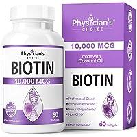 Physician's Choice Biotin 10000mcg with Coconut Hair Oil