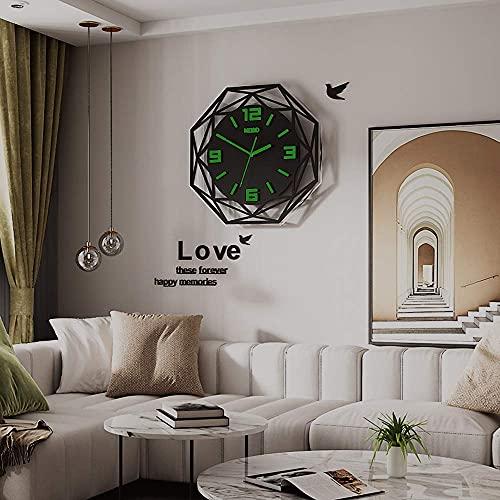 BBZZ Reloj de pared Lgrge diamante moderno DIY 3D pegatinas espejo adhesivo cuarzo relojes accesorios para el hogar oficina sala decoración para interior y exterior