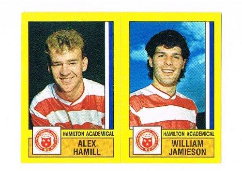 No.514 Alex Hamill / William Jamieson of Hamilton Academical - Football 87 - Panini - English & Scottish League