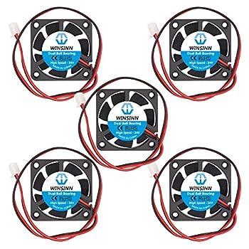 WINSINN 40mm Fan 24V Dual Ball Bearing Brushless 4010 40x10mm - High Speed  Pack of 5Pcs