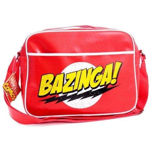 Big Bang Theory Bazinga Messenger-Tasche, Rot