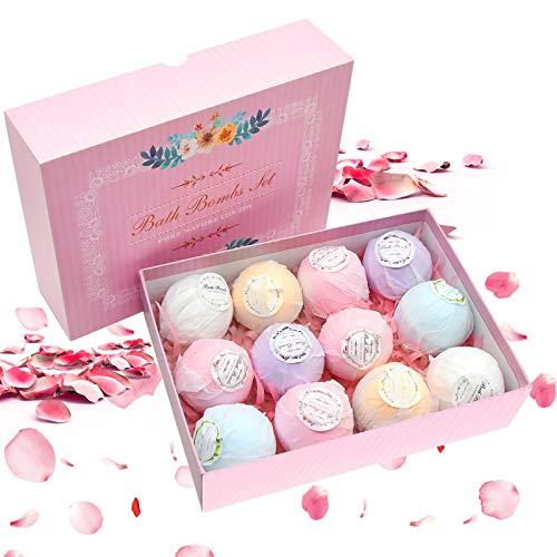 El baño bombardea los cosméticos, sistema del regalo de 12 sales de la bola de las bombas del baño, natural hecho a mano, rico y colorido, caja de regalo