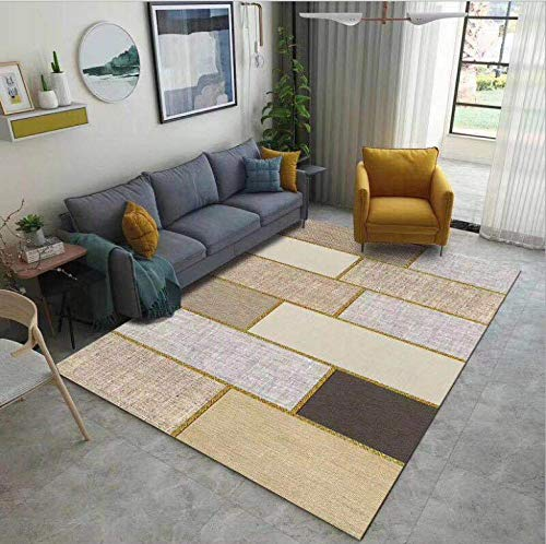 HXJHWB modern trendy design inspiratie multi - woonkamer tapijt salontafel pad wasbaar modern minimalistische rechthoekige steekpatronen