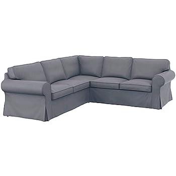 Funda de repuesto para sofá IKEA Ektorp 2 2 de algodón grueso, hecha a medida para sofá esquinero o seccional IKEA Ektorp: Amazon.es: Hogar