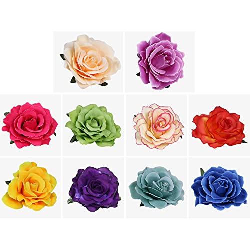 URAQT Clips de Pelo de Flor, Pinzas Hawaianas de Flores, pinzas para...
