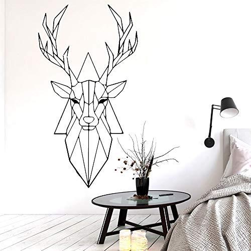 58 * 107 cm Exquisite hirschkopf Wandaufkleber Von Einrichtungs Dekorative Wandaufkleber Für Kinderzimmer Diy Dekoration Wohnkultur
