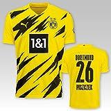 PUMA BVB Heimtrikot Erwachsen Saison 2020/21, Größe:M, Spielername:26 Piszczek