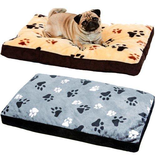 Karlie Hundekissen Track Eckig Liegekissen Hundebett Hunde Kissen Bett Schlafplatz, Farbe:Beige;Größe:60 x 45 x 8 cm