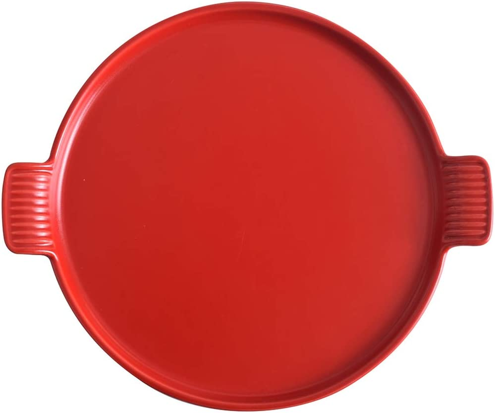 KVV Cheap Ceramics Pizza Pan for Oven Inches Diameter 35% OFF Baking Round 9.2