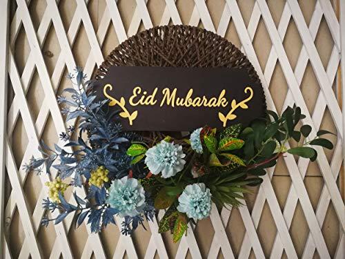 Jinwe Eid Al-Fitr Door Decoration Garlands, Islamic Ramadan Decorations, Suitable for Hanging on The Door and Wall