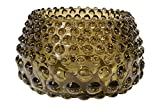 Creative Co-op DF1798 Olive Green Hobnail Glass Tealight and Votive Holders