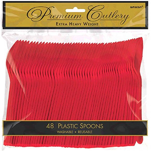 amscan Apple Red Premium Heavy Dutyt Plastic Spoons, 48 Ct. - http://coolthings.us
