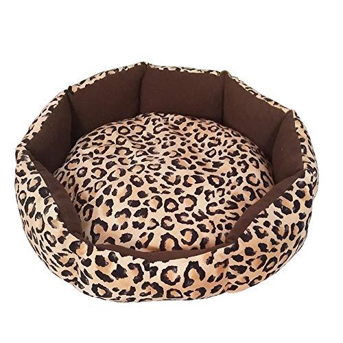 BEI&YANG Cuccia per Cani Cuccia per Animali Domestici Teddy VIP Bichon Chai Cuccia per Cani Cuccia per Gatti di Piccole E Medie Dimensioni-Piccolo Leopardo_L