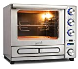 Gemelli Twin Oven, Professional Grade Convection Oven with Built-In Rotisserie and Convenience/Pizza Drawer, Countertop Sized, Stainless Steel Finish