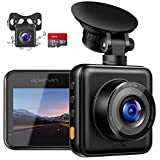 APEMAN Dash Cam for Cars Front and Rear with Night Vision and SD