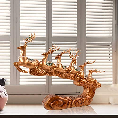 VSander Kreative Resin Crafts Hauptdekoration Europa Villa Sechs Elch Geschenk Goldschmuck Wohnzimmer Eingang Studie Schlafzimmer