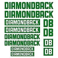 装飾デカールステッカーセットスタイリング自転車本体の車 - DIAMONDBACKダイカットデカールステッカーシート(サイクリング、マウンテンバイク、BMX、自転車、フレーム)の場合 (green)